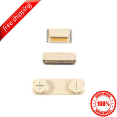 Original Side Buttons Mute Volume Power For iPhone 5s - Gold