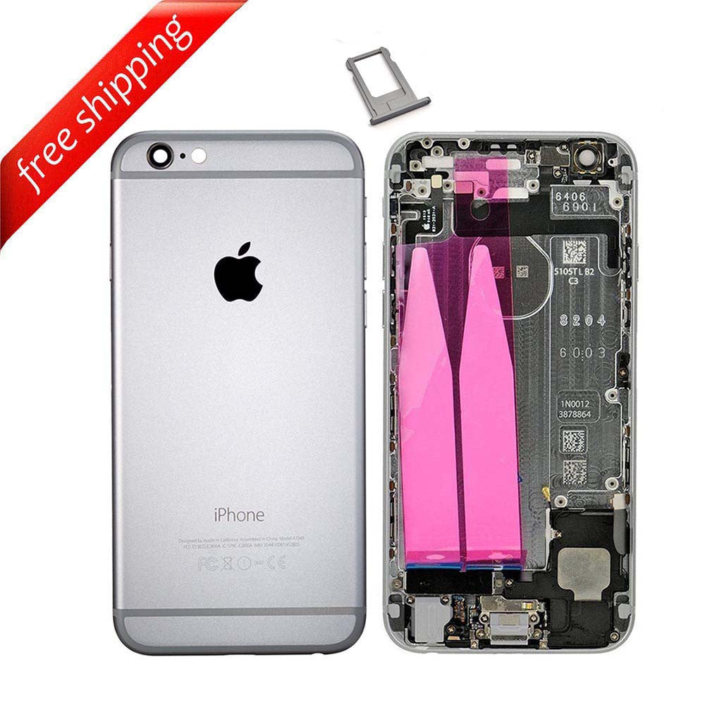 Back Housing Replacement Battery Case Cover Rear Frame With Spare Parts For iPhone 6 - Grey