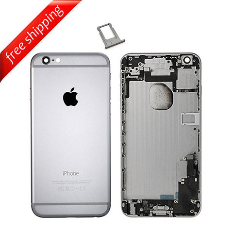 Back Housing Replacement Battery Case Cover Rear Frame With Spare Parts For iPhone 6 Plus - Grey