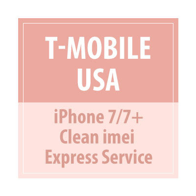 T-Mobile USA -iPhone 7/7+ Clean IMEI Express Service - Delivery Time : 15 days