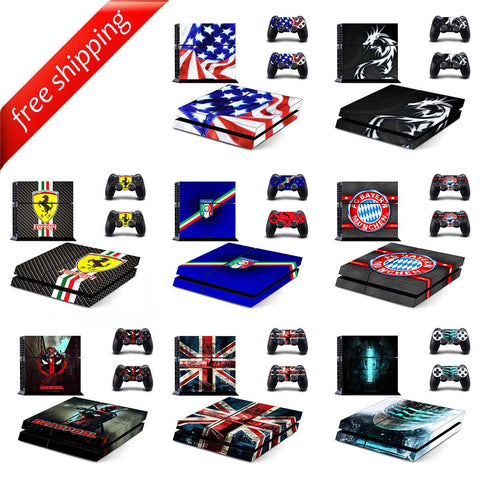 Decal Vinyl Skin Protection Sticker for Playstation 4 console & Controller