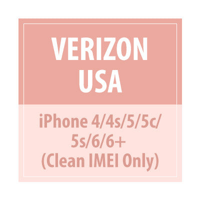 Verizon USA iPhone 4/4s/5/5c/5s/6/6+ Clean IMEI Only