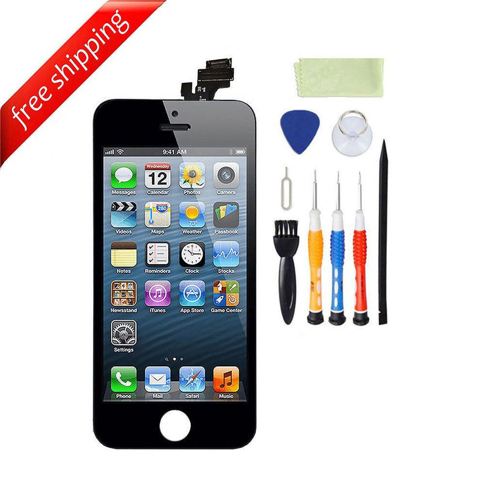 LCD For iPhone 5 Replacement Screen Touch Digitizer - Black