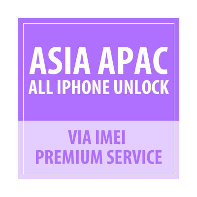 Asia APAC All iPhone Unlock Via IMEI Premium Service - Delivery Time : 1-7 Days