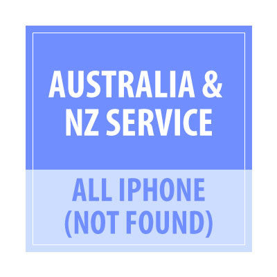 Australia & NZ Service Not Found All iPhone