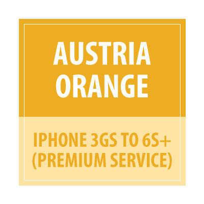Austria Orange- iPhone 3GS To 6s+ Premium service - Delivery Time : 10 days