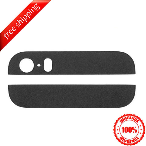 Original Back Cover Top & Bottom Glass Lens For iPhone 5s - Black