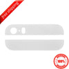 Original Back Cover Top & Bottom Glass Lens For iPhone 5s - White