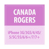 Canada Rogers - iPhone 3G/3GS/4/4S/5/5C/5S/6/6+/7/7+ - Delivery Time : 7 days