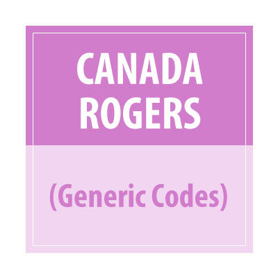 Canada Rogers (Generic Codes) - Delivery Time : 24-48 Hours