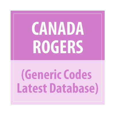 Canada Rogers (Generic codes Latest Database) - Delivery Time : 24 Hours