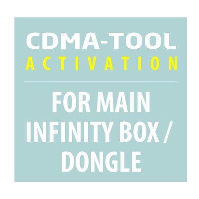 CDMA-Tool Activation for Infinity-Box/Dongle