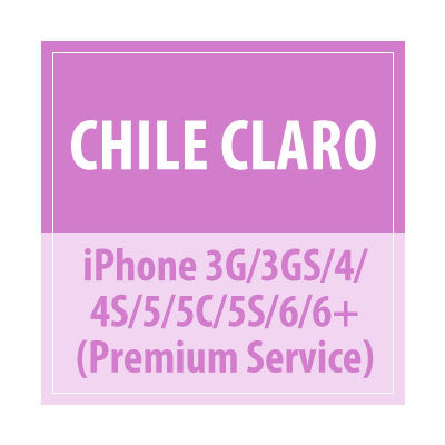Chile Claro iPhone 3G/3GS/4/4S/5/5C/5S/6/6+ Premium Service - Delivery Time : 10 days