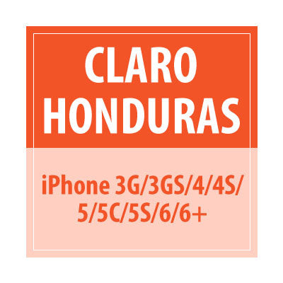 Claro honduras iPhone 3G/3GS/4/4S/5/5C/5S/6/6+ - Delivery Time : 72 Hours