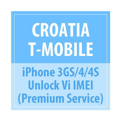 Croatia T-Mobile iPhone 3GS/4/4S Unlock via IMEI Premium Service - Delivery Time : 72 Hours