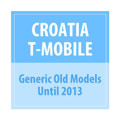 Croatia T-Mobile Generic Old Models Until 2013