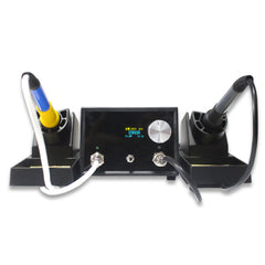 HYTBOX Double Handle Digital Thermostatic Electric Soldering Iron for iPhone Motherboard BGA Chip