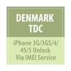 Denmark TDC iPhone 3G/3GS/4/4S/5 Unlock Via IMEI Service - Delivery Time : 24 Hours