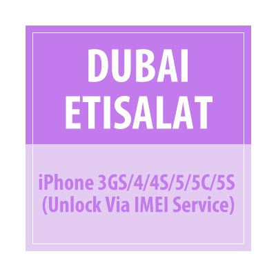 Dubai Etisalat iPhone 3gs/4/4S/5/5c/5s Unlock Via IMEI Service - Delivery Time : 72 Hours