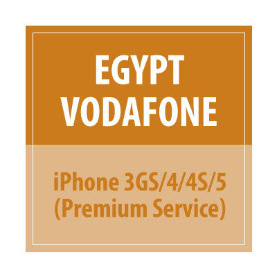 Egypt Vodafone iPhone 3GS/4/4S/5 Premium Service - Delivery Time : 10 days