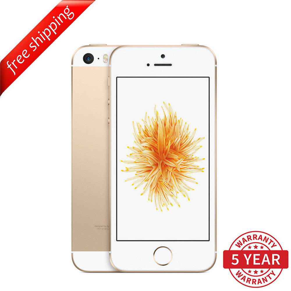 Original Apple iPhone SE 4G LTE GSM Factory Unlocked Gold (16GB/64GB) - Refurbished