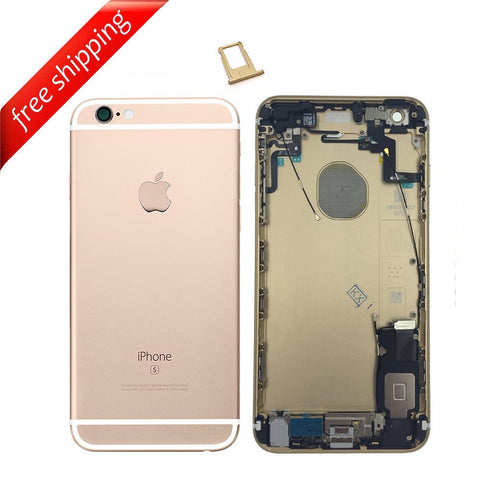 Back Housing Replacement Battery Case Cover Rear Frame With SpareParts For iPhone 6s Plus - Gold