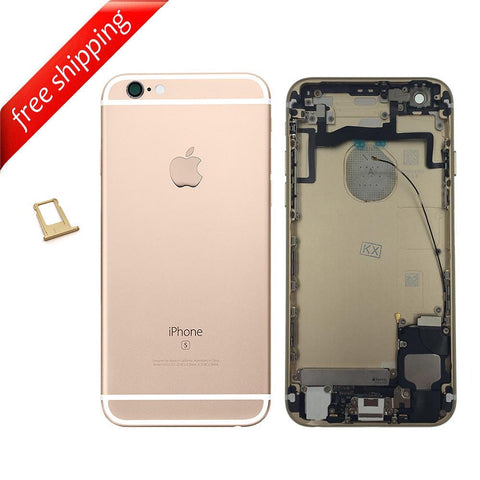 Back Housing Replacement Battery Case Cover Rear Frame With Small Spare Parts For iPhone 6s - Gold