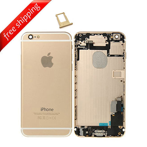 Back Housing Replacement Battery Case Cover Rear Frame Small SpareParts For iPhone 6 Plus - Gold
