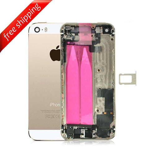 Back Housing Replacement Battery Case Cover Rear Frame With Small Spare Parts For iPhone 5s - Gold