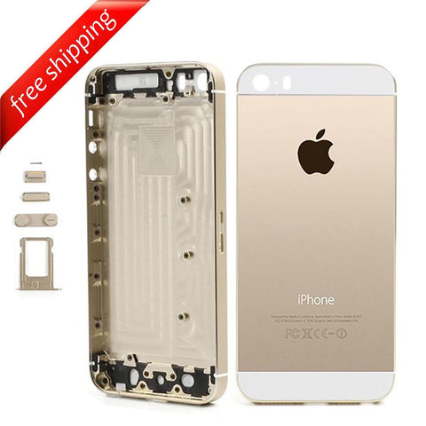 Back Housing Replacement Battery Case Cover Rear Frame For iPhone 5s - Gold