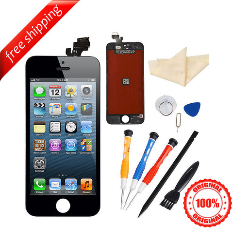 Original LCD For iPhone 5 Replacement Screen Touch Digitizer - Black