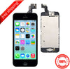 Original LCD For iPhone 5 With Spareparts Home Button, earphone, camera & Etc - Black