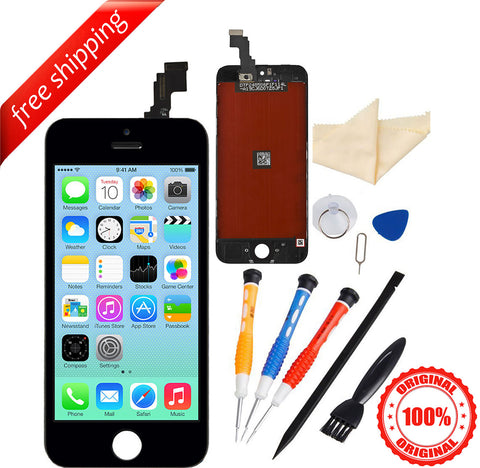 Original LCD For iPhone 5c Replacement Screen Touch Digitizer - Black