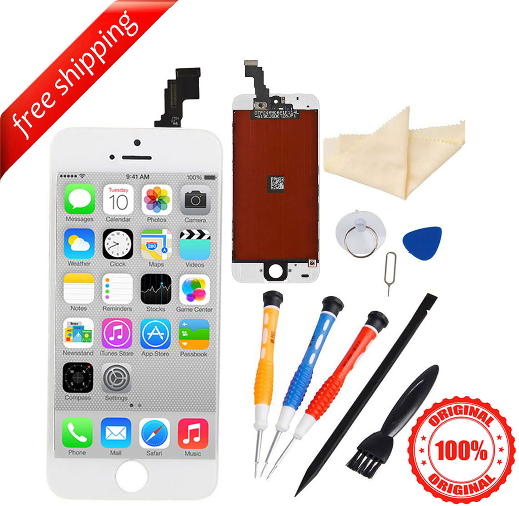 Original LCD For iPhone 5c Replacement Screen Touch Digitizer - White