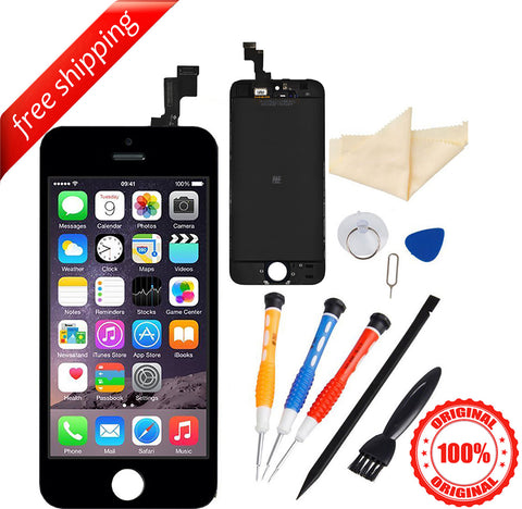 Original LCD For iPhone 5s Replacement Screen Touch Digitizer - Black