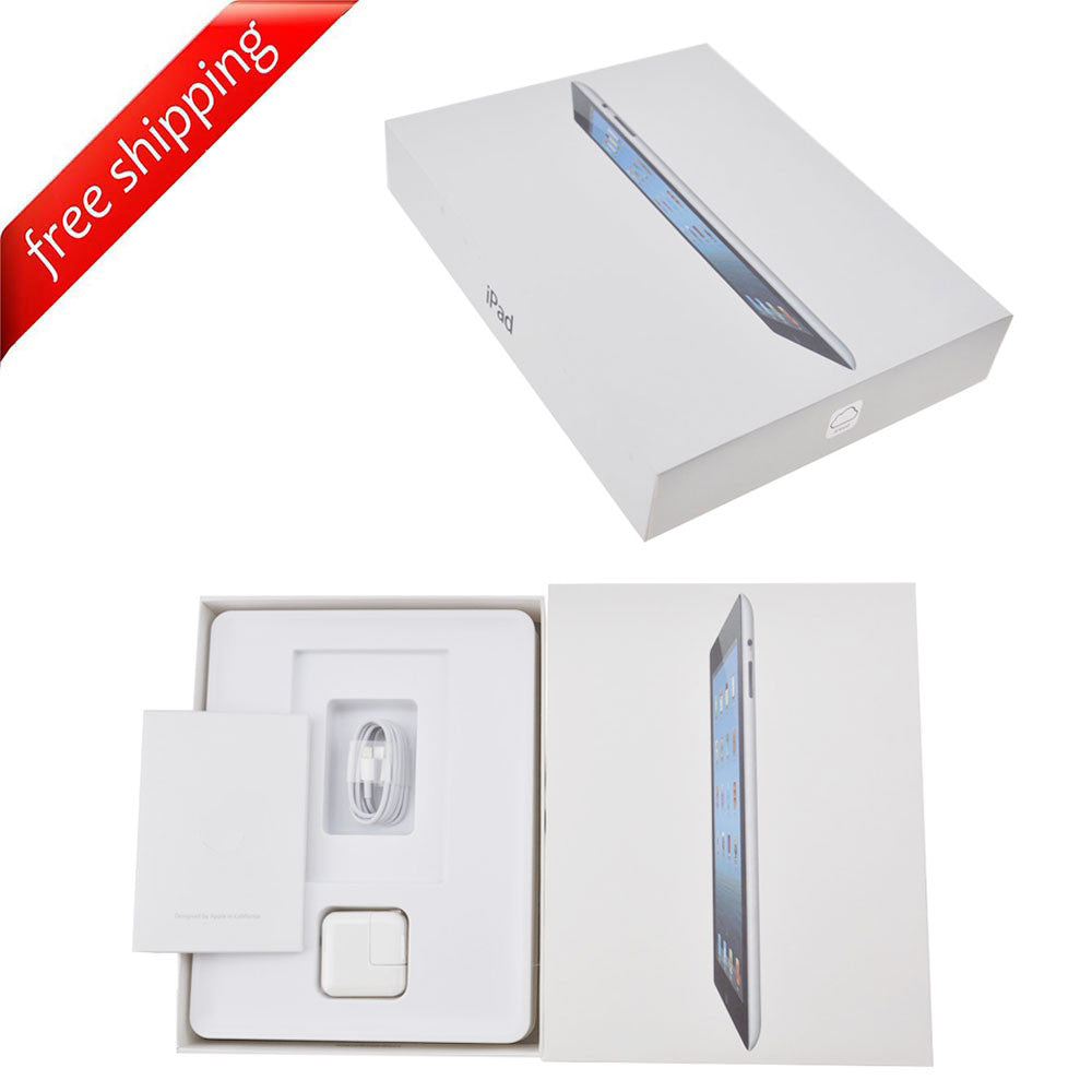 Packaging Box + Full Accessories + Label Sticker For iPad 4