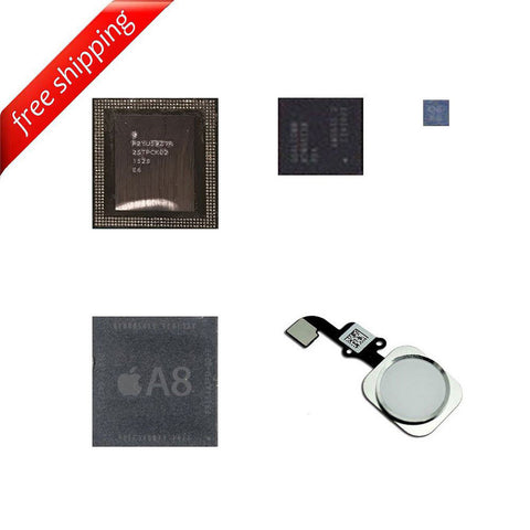 Remove iCloud IC Chip Kits CPU Upper + CPU Lower + Baseband + EEPROM + HomeButton for iPhone 6 / iPhone 6 Plus- USED