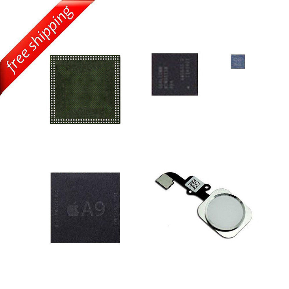 Remove iCloud IC Chip Kits CPU Upper + CPU Lower + Baseband + EEPROM + HomeButton for iPhone 6S / iPhone 6S Plus- USED