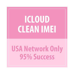 iCloud Clean IMEI USA Network Only 95% Success - Delivery Time : 21 days