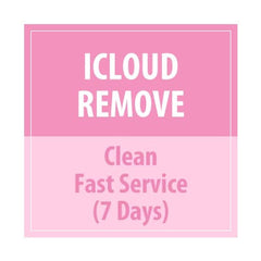 iCloud Remove Clean Fast Service 7Days - Delivery Time : 7 days