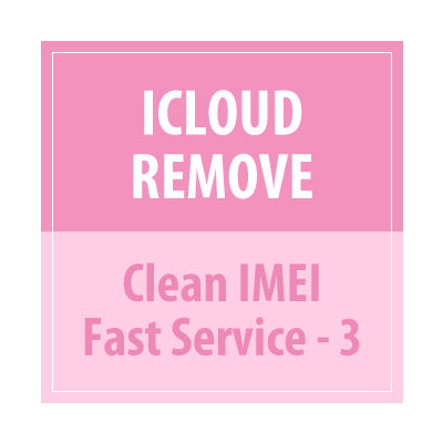 ICloud Remove Clean imei Fast Service -3 - Delivery Time : 5 days