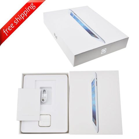 Packaging Box + Full Accessories + Label Sticker For iPad 3