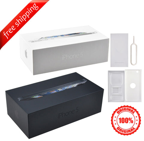 Original Retail Packaging Box + Label Sticker For iPhone 5
