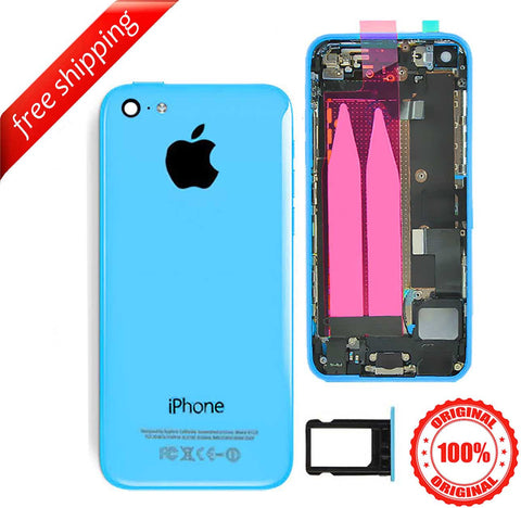 Original Full Metal Battery Housing Back Cover Assembly With Small Spare Parts For iPhone 5c - Blue