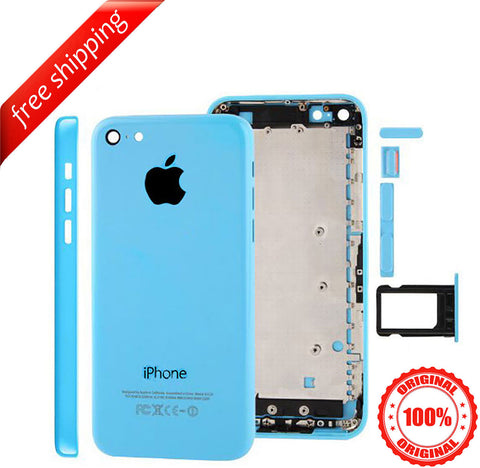 Original Back Housing Replacement Battery Case Cover Rear Frame For iPhone 5c - Blue
