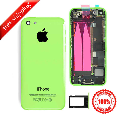 Original Full Metal Battery Housing Back Cover Assembly With Small Spare Parts For iPhone 5c - Green
