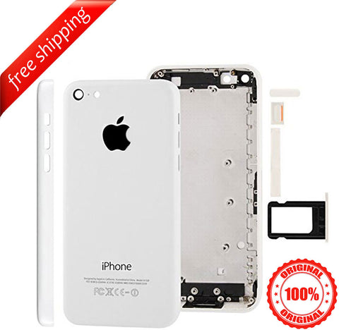 Original Back Housing Replacement Battery Case Cover Rear Frame For iPhone 5c - White