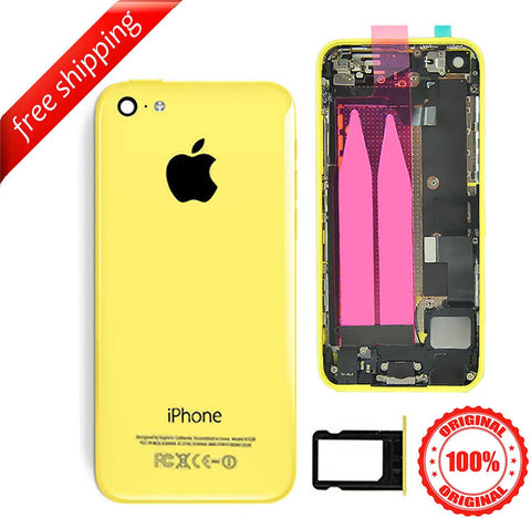 Original Full Metal Battery Housing Back Cover Assembly With Small Spare Parts For iPhone 5c - Yellow