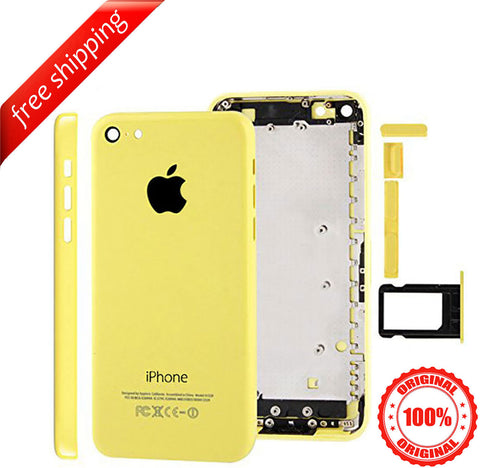 Original Back Housing Replacement Battery Case Cover Rear Frame For iPhone 5c - Yellow