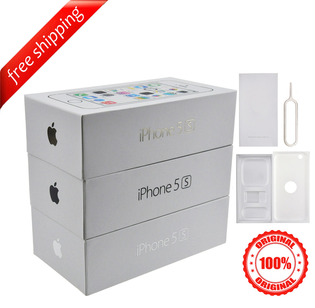 Original Retail Packaging Box + Label Sticker  For iPhone 5S